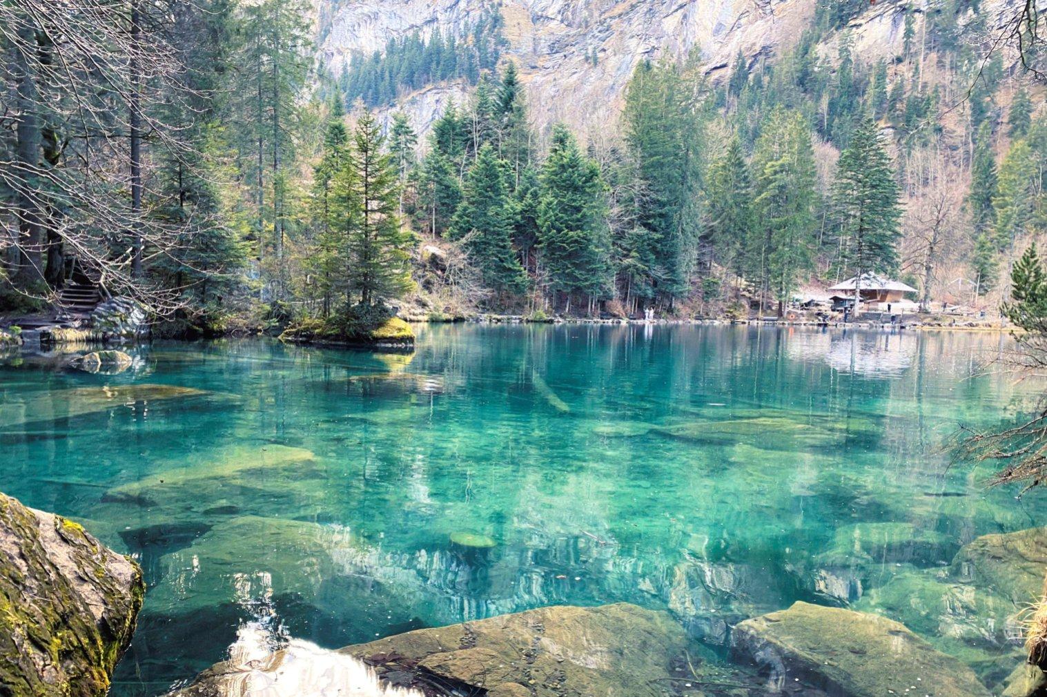 Inverno Lago Blausee Suíça