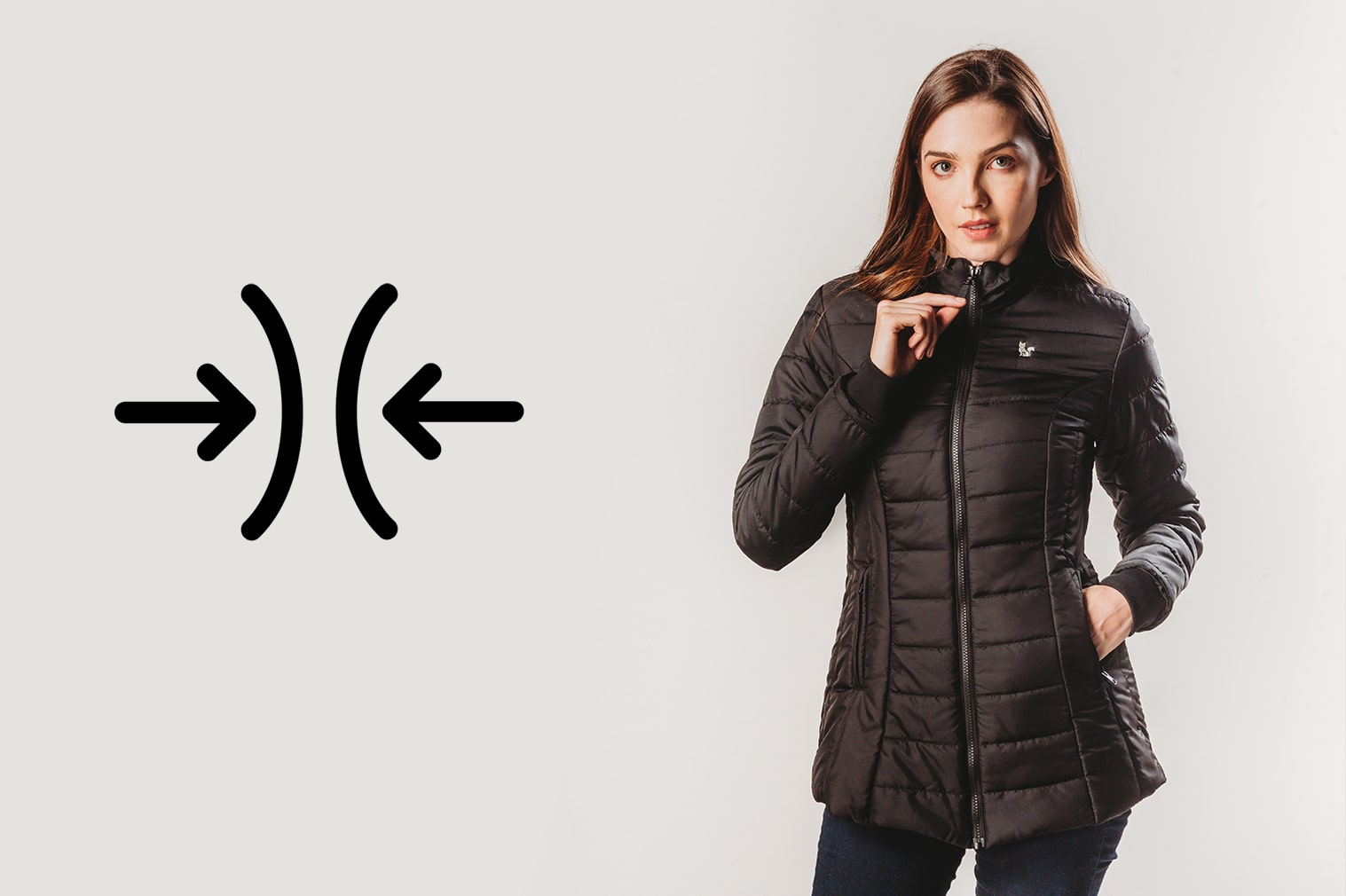 Jaqueta tamanho adequado