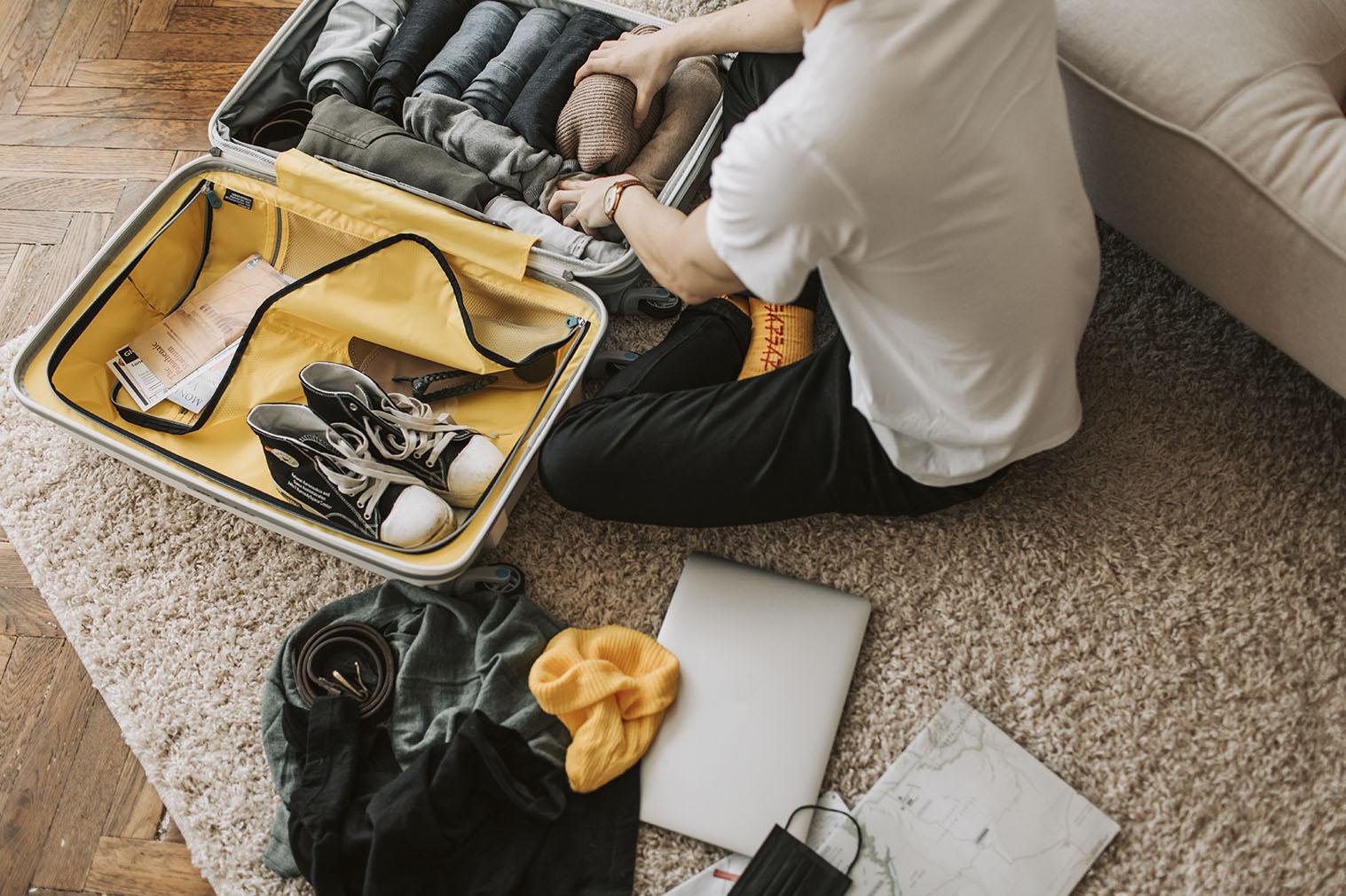 Organização de malas para viagem